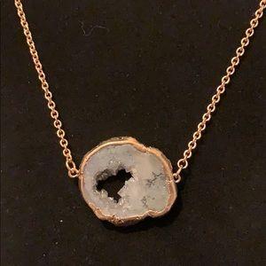 Jewelry - New Gray Druzy Necklace